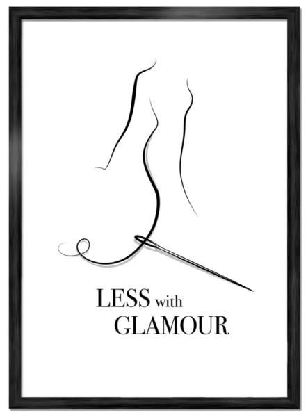 Needle- Less with Glamour. Art poster: ©Joakim Jalin 2016