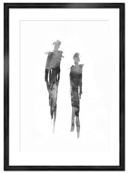 Figures - Svartvit art poster affisch ©Joakim Jalin 2016