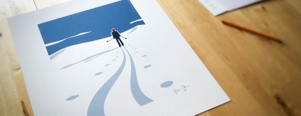 Skidspar - FineArt Poster Affisch av Joakim Jalin